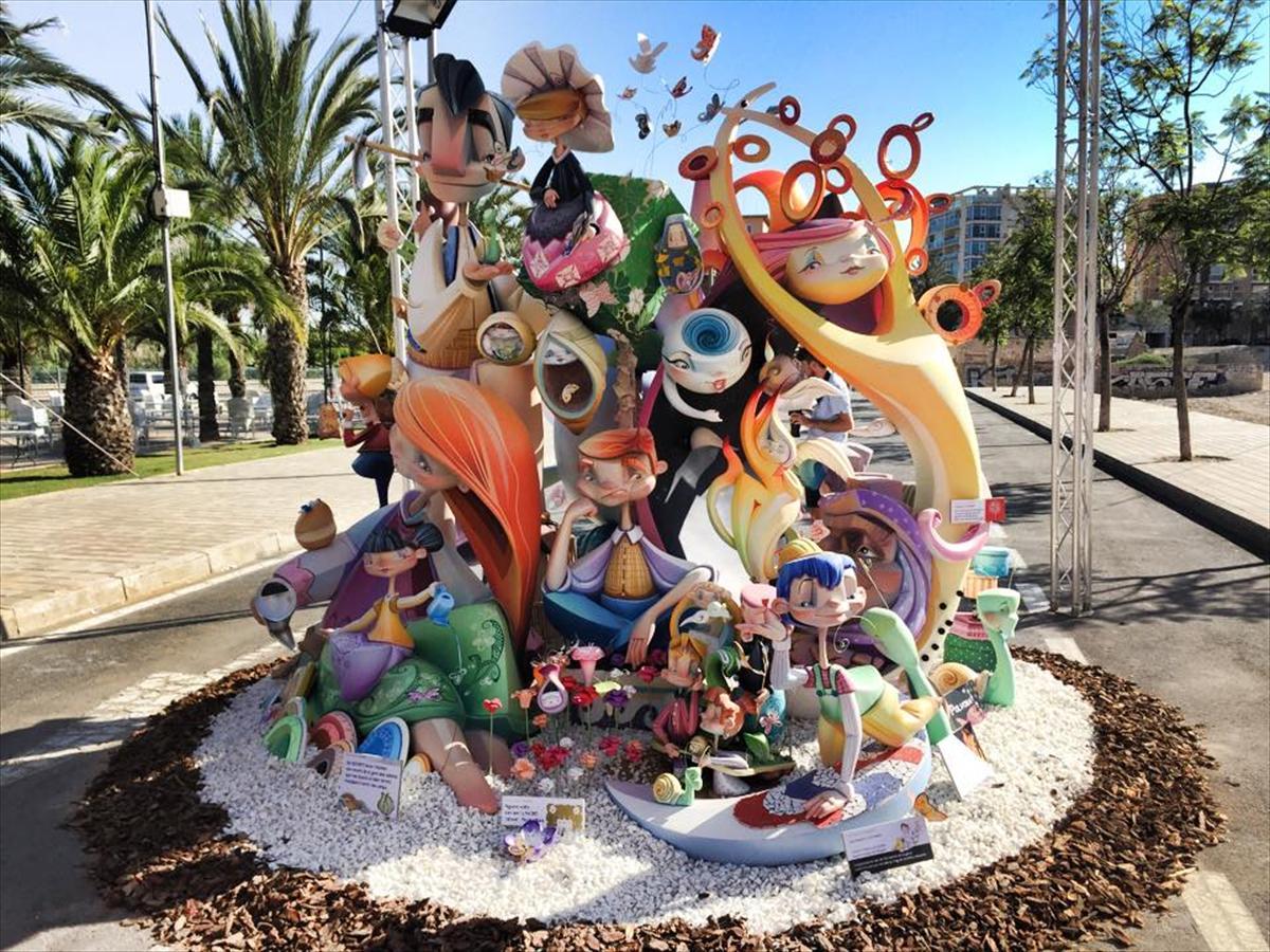 Primer premio de la Sección Especial Infantil de las Hogueras 2015, obra de Iván Tortajada (Foto: Infogueres